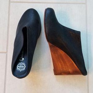 Jeffrey Campbell Havana Last Wood/Leather wedges